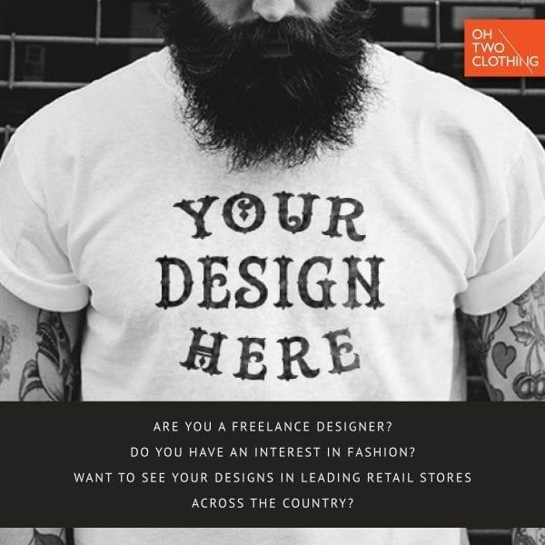 Oh Two Clothing Freelance Designer Advertisement